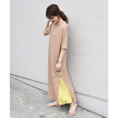 シップスotonaMUSE×SHIPS プリーツスカート付きTEEシャツドレス【お取り寄せ商品】
