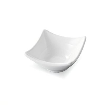 8.4cm 雅四方上角小鉢 白グロス 5個セット(3-1226-6)和 YASURAGI ジャパン キッチン、台所用品