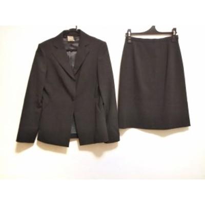 インディビ INDIVI スカートスーツ サイズ38 M レディース 美品 - ダークグレー 肩パッド【中古】20201206