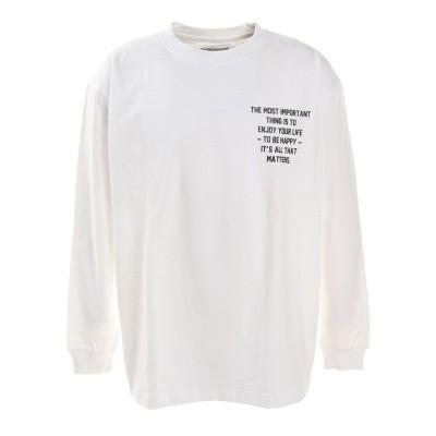 ACPGウェアプリントBIG長袖Tシャツ 871PA0BGI7062WHT ホワイト