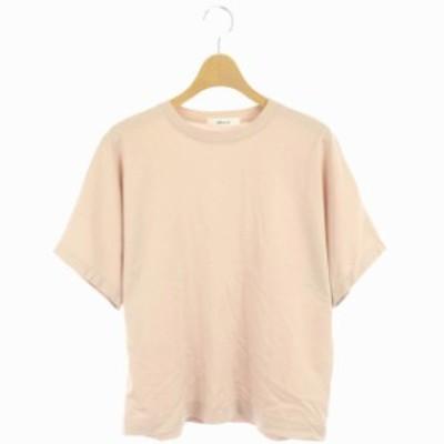【中古】エブール ebure 20SS 超長綿スーピマコットンTシャツ カットソー 半袖 38 ピンク /HK ■OS レディース