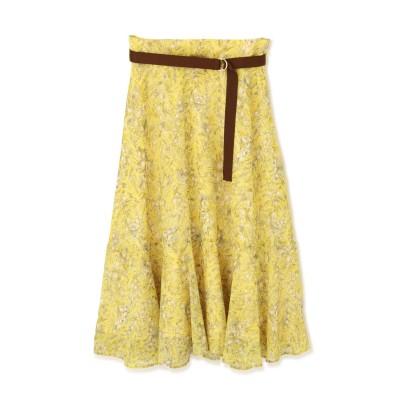 フローイングフラワープリントスカート