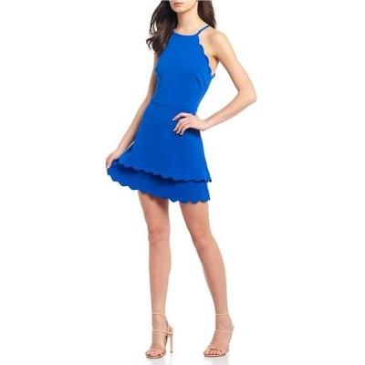 ビーダーリン レディース ワンピース トップス Scalloped Double Hem Fit-and-Flare Dress