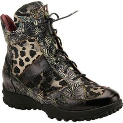 スプリングステップ L'Artiste by Spring Step レディース ブーツ ショートブーツ Ileana Leopard Ankle Bootie Black Multi Embossed Leather/Leopard Fabric
