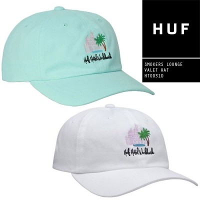 ハフ キャップ 帽子 HUF SMOKERS LOUNGE VALET HAT HT00310 6パネルキャップ スモーカーラウンジ ストラップバック スナップバック[ZRC]