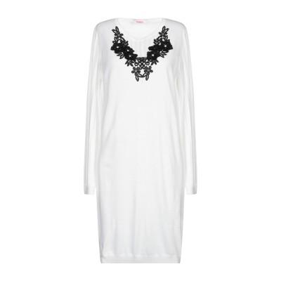 ブルーガール ブルマリン BLUGIRL BLUMARINE ミニワンピース&ドレス ホワイト 38 ポリエステル 54% / ナイロン 20% /