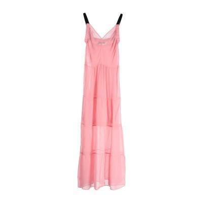 KATIA GIANNINI ロングワンピース&ドレス ピンク 44 レーヨン 100% ロングワンピース&ドレス