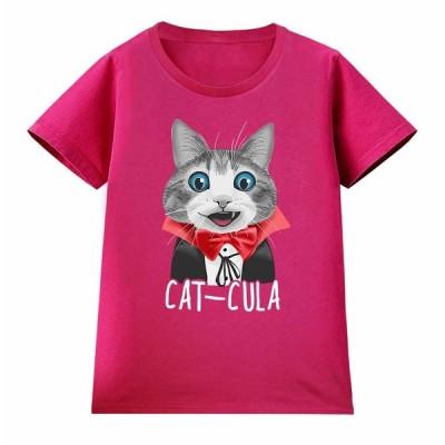 【猫 ねこ ドラキュラ】レディース 半袖 Tシャツ by Fox Republic