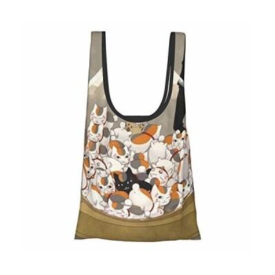買い物バッグ 夏目友人帳 ニャンコ先生 猫 アニメ 買い物袋 エコバッグ 折りたたみ ショッピングバッグ コン