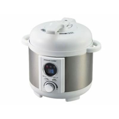 アルファックス・コイズミ 圧力鍋 ミニ電気圧力鍋 LPC-T12/W [ホワイト]