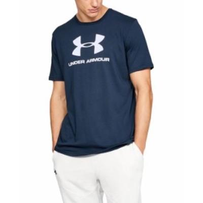 アンダーアーマー メンズ Tシャツ トップス Men's Sportstyle Logo T-Shirt Academy Navy