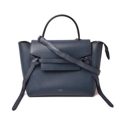 セリーヌ ハンドバッグ/ショルダーバッグ CELINE Belt Bag Micro ベルトバッグ マイクロ 18915 ネイビー系 2way ストラップ付