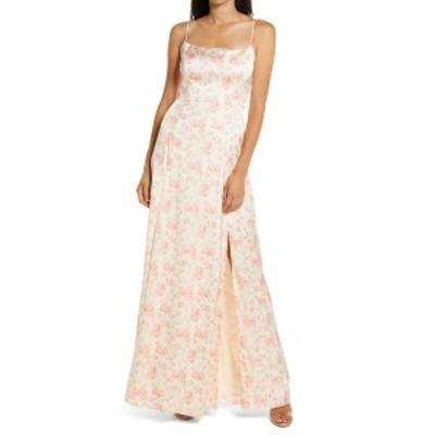 ワイフ レディース ワンピース トップス The Verona Etched Floral Gown CORAL MINI ETCHED FLORAL