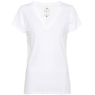 ベルベット グラハム&スペンサー Velvet レディース Tシャツ トップス Lilith cotton T-shirt White
