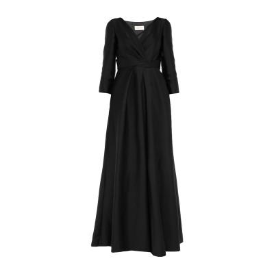 アルベルタ フェレッティ ALBERTA FERRETTI ロングワンピース&ドレス ブラック 40 ポリエステル 89% / シルク 11% ロン