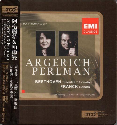 【停看聽音響唱片】【XRCD】阿格麗希&帕爾曼:貝多芬:「克羅采」奏鳴曲/法朗克:小提琴奏鳴曲