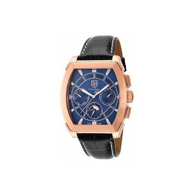 海外セレクション 腕時計 S. Coifman SC0091 メンズ クォーツ クロノグラフ ブルー ダイヤル 腕時計