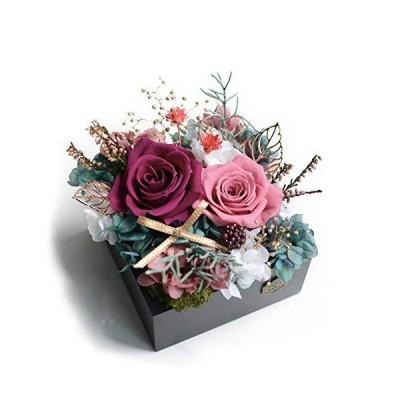 車の装飾保存の花保存された本当のバラの妻ガールフレンドバレンタインの日の誕生日クリスマスドライフラワ
