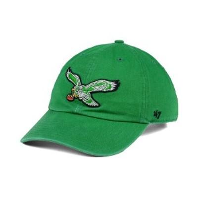 47ブランド メンズ 帽子 アクセサリー Philadelphia Eagles CLEAN UP Strapback Cap Kelly Green