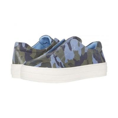 J/Slides レディース 女性用 シューズ 靴 スニーカー 運動靴 Heidi - Blue Camo Leather