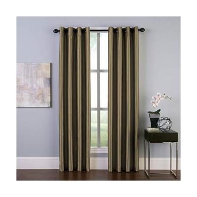 Curtainworks マルタ フェイクシルク グロメットカーテンパネル 50 x 144インチ ブロンズ