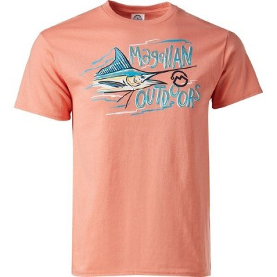 マジェランアウトドア Tシャツ トップス メンズ Magellan Outdoors Men's Painted Marlin Promo T-shirt Pink Bright 01