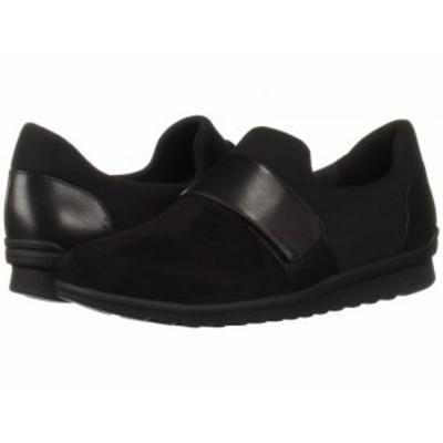 Aravon アラヴォン レディース 女性用 シューズ 靴 スニーカー 運動靴 Josie Instep Strap Black Suede【送料無料】