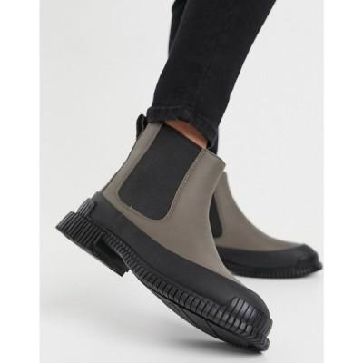 カンペール Camper レディース ブーツ チェルシーブーツ チャンキーヒール シューズ・靴 Pix Chunky Leather Chelsea Boots In Grey アソート