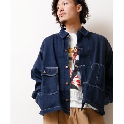 FUNALIVE / 【IFRUN ORIGINAL】両胸ポケット 長袖 デニムジャケット MEN ジャケット/アウター > デニムジャケット