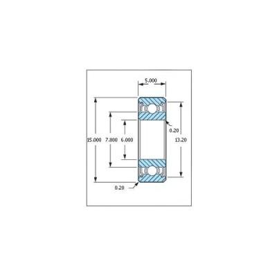 ミネベア ボール・ベアリング DDR-1560ZZ ステンレス 6x15x5mm