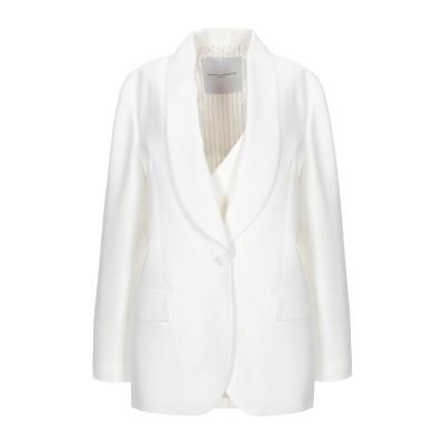 エルマノ シェルヴィーノ ERMANNO SCERVINO テーラードジャケット ホワイト 42 アセテート 74% / レーヨン 26% テーラー