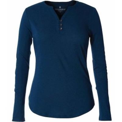 ロイヤルロビンズ Royal Robbins レディース 長袖Tシャツ ヘンリーシャツ トップス Merinolux Henley LS Shirt Harbor