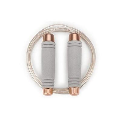 QIXIN重量ジャンプロープ、調節可能なPVCワイヤロープ軸受、快適な発泡ハンドルスキップロープワークアウト、フィットネストレーニングメンズ、レディー