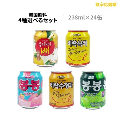 【送料無料】ヘテ飲料 韓国ジュース 24本セット すりおろし梨、もも、ぶどう シッケ スジョンガ 238ml×24本 選べる4種 ボンボン ヘテ