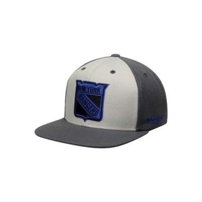 ホッケー NHL リーボック Reebok New York Rangers Gray Crosscheck Snapback Adjustable Hat
