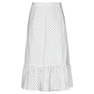 BAUM UND PFERDGARTEN 7分丈スカート ホワイト 34 コットン 100% 7分丈スカート