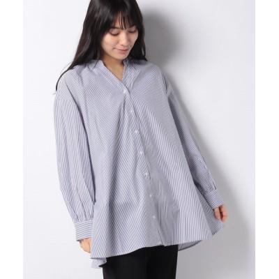 (Te chichi/テチチ)【Techichi TERRASSE】バックリボン開きシャツ/レディース ネイビー