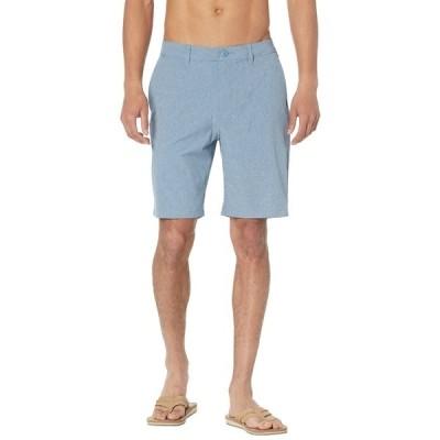 """クイックシルバー ハーフ&ショーツ ボトムス メンズ Union Heather Amphibian 20"""" Shorts Captains Blue"""