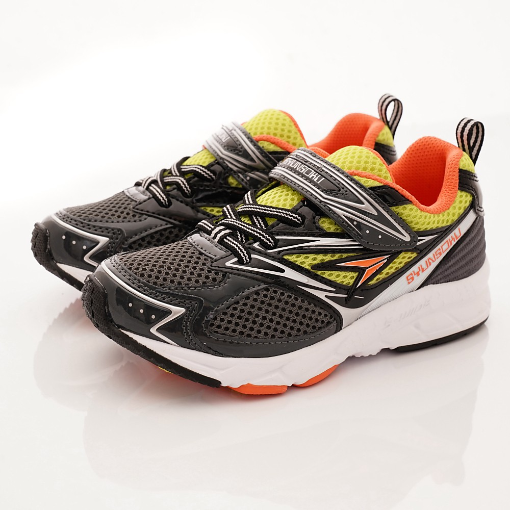 瞬足Syunsoku 日本機能童鞋 輕量定型運動鞋 球鞋 布鞋3001-GM灰(中大童段)20-24cm-零碼出清