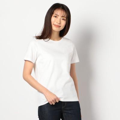 レディース 【在庫限り】オーガニック無地半袖Tシャツ ホワイト L