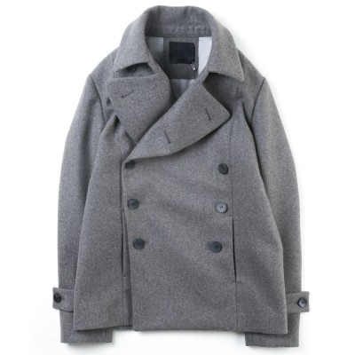 VARIOUS SHOP / WOOL CASHMERE DOUBLE MELTON PEA COAT MEN ジャケット/アウター > ピーコート