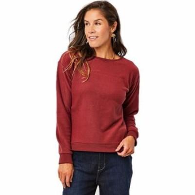 (取寄)カーブ レディース デザイン ルビー クルーネック トレーナー Carve Women Designs Ruby Crewneck Sweatshirt Brick