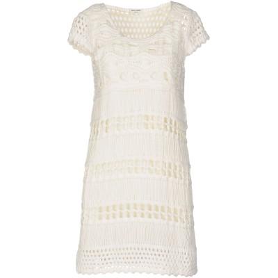 SAINT LAURENT ミニワンピース&ドレス ホワイト S コットン 100% ミニワンピース&ドレス