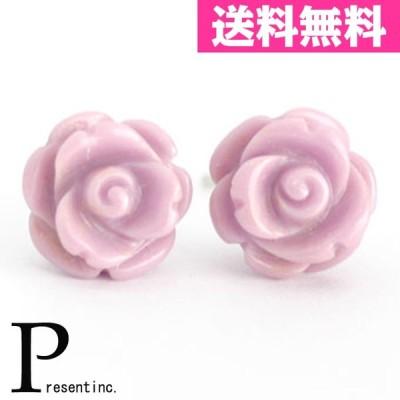薔薇ピアス フォスフォシデライト バラ K14 ホワイトゴールド 薔薇 ピアス