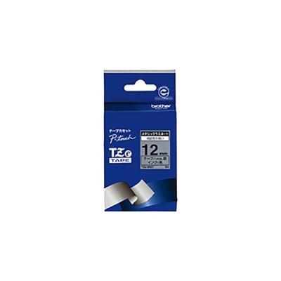 ピータッチ用TZeテープカセット ツヤ消し銀に黒文字12ミリ幅 TZE-M931 1本