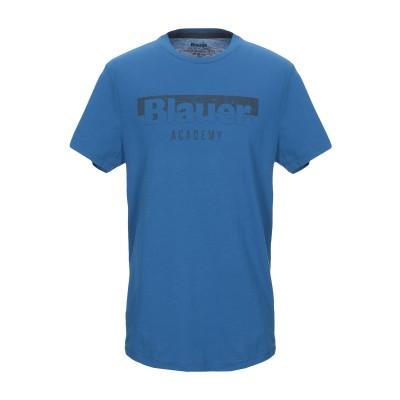 ブラウアー BLAUER T シャツ アジュールブルー L コットン 100% T シャツ