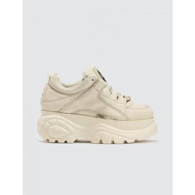 バッファロー Buffalo London レディース スニーカー ローカット シューズ・靴 Snake Embossed Low Top Platform Sneakers Creamy White