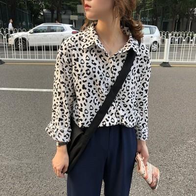 【送料無料】レオパード ブラウス 3色 長袖