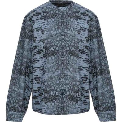 ロベルト カヴァリ ROBERTO CAVALLI メンズ スウェット・トレーナー トップス sweatshirt Slate blue