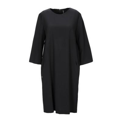 マニラ グレース MANILA GRACE ミニワンピース&ドレス ブラック 44 ポリエステル 68% / レーヨン 28% / ポリウレタン 4
